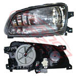 HEADLAMP - L/H - W/CLEAR FOG LAMP - TO SUIT - HINO RANGER PRO FC/FD/FG/FM 2002-